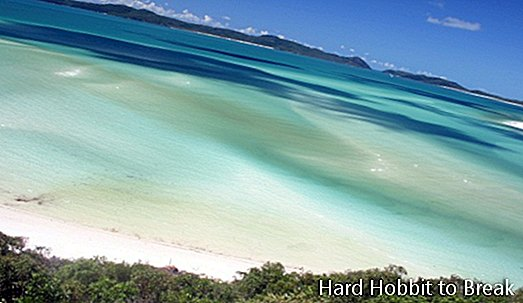 The spectacular Whitehaven Beach in Australia