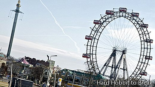 The giant ferris wheel in Vienna