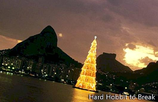 A floating Christmas tree in Brazil
