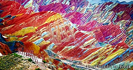 The colorful mountains of Zhangye Danxia in China