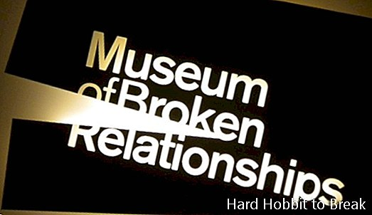 Het Museum of Broken Relationships in Zagreb, Kroatië