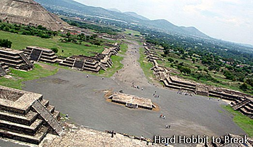 Teotihuacán, een pre-Spaanse stad in Mexico