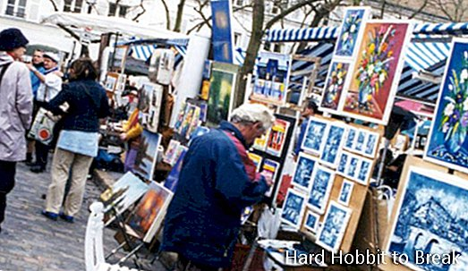 Montmartre, the Parisian neighborhood of painters