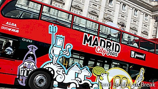 The two routes of the Madrid City Tour tourist bus