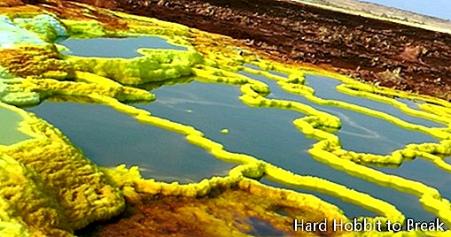 Dallol, the warmest point on the planet