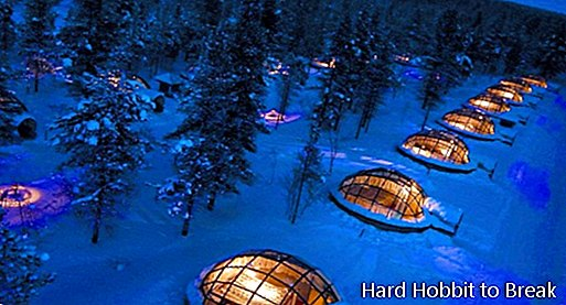 Hotel rooms with glass ceiling to see northern lights