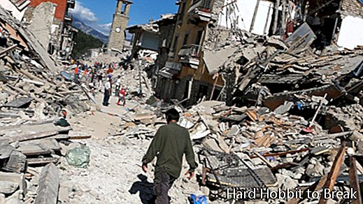 Amatrice, the medieval town that has been destroyed after the earthquake in Italy