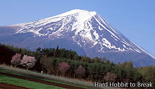Mount Fuji, den højeste top i Japan