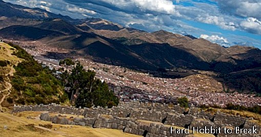 The impressive Fortress of Sacsayhuamán in Peru