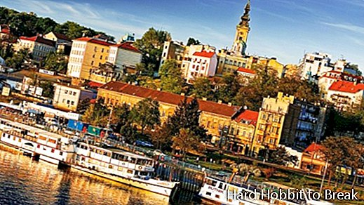 Belgrade, capital of Serbia next to the Danube river
