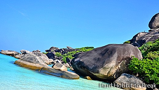 The spectacular Mu Ko Similan National Park in Thailand