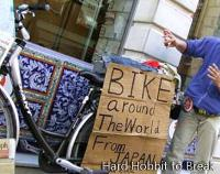 Travel the world with his bicycle