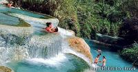 The beautiful natural hot springs of Saturnia, in Italy