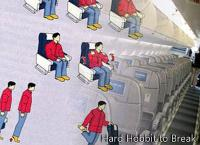 Simple exercises during the flight